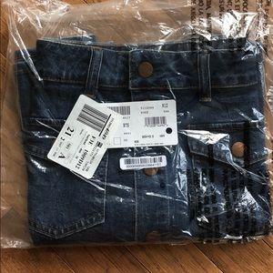 c75a9fbda8d Madewell Jeans - NWT Madewell Beverly Pieced Jean Skirt